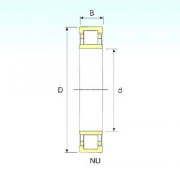 180 mm x 380 mm x 75 mm  ISB NU 336 cylindrical roller bearings