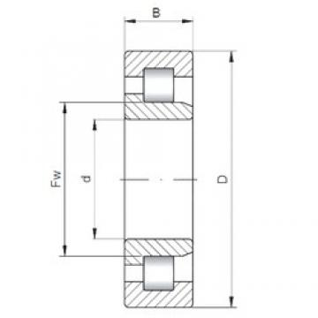 160 mm x 240 mm x 38 mm  ISO NJ1032 cylindrical roller bearings