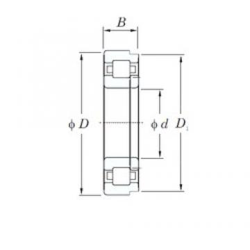 160 mm x 240 mm x 38 mm  KOYO NUP1032 cylindrical roller bearings