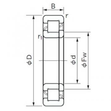 180 mm x 380 mm x 75 mm  NACHI NUP 336 cylindrical roller bearings