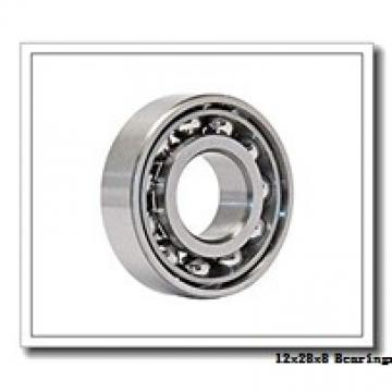 12 mm x 28 mm x 8 mm  Loyal 6001-2RS deep groove ball bearings