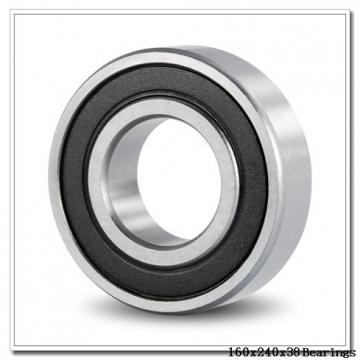 160 mm x 240 mm x 38 mm  KOYO 3NCHAC032CA angular contact ball bearings